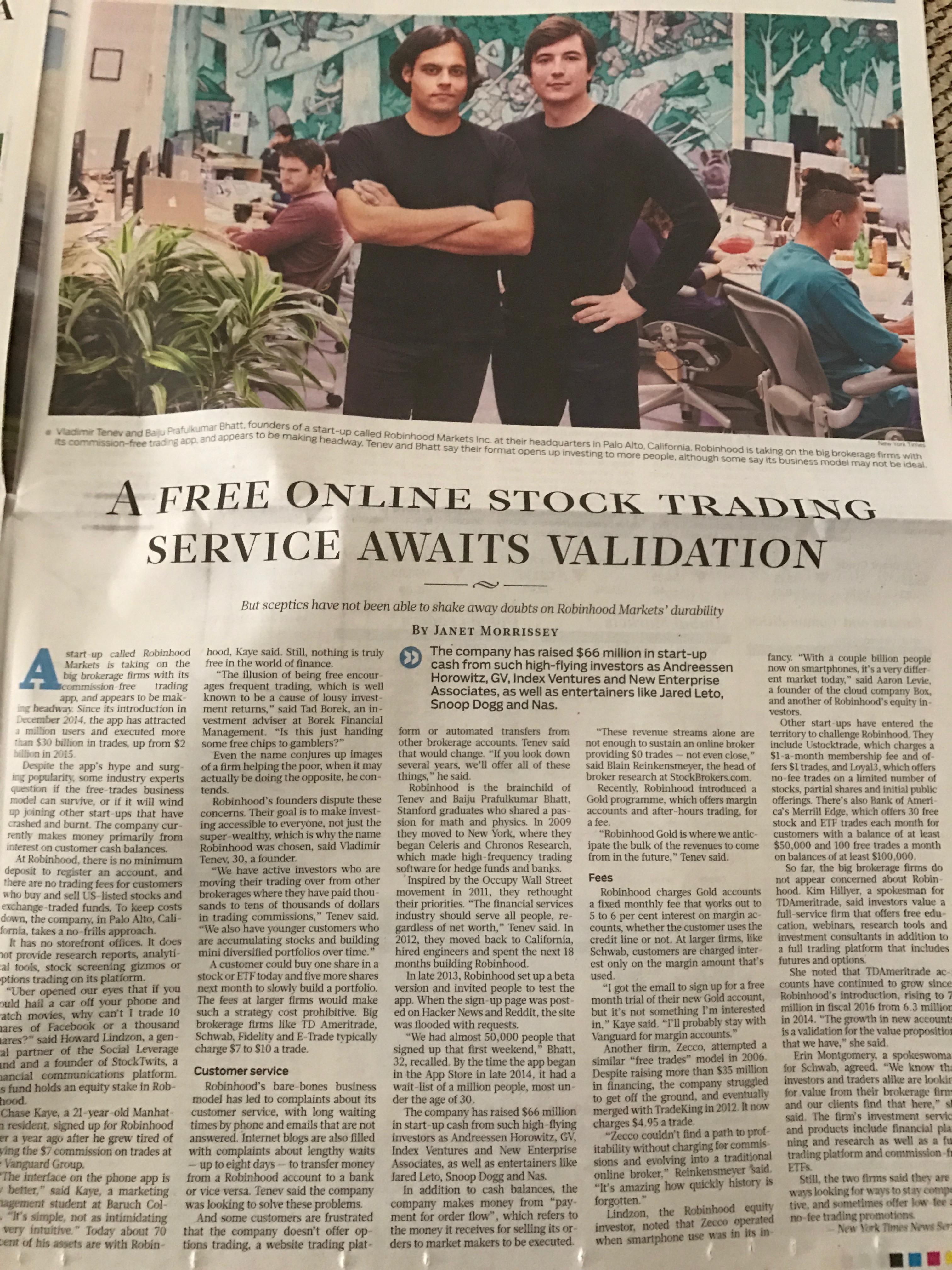 Robinhood Gulfnews article